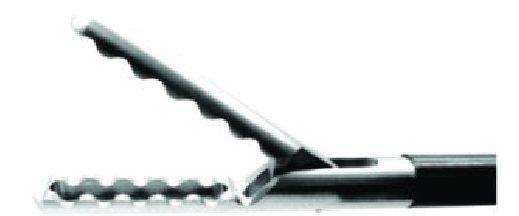 Pinça de apreensão simples ação dentes ondulados